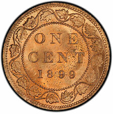 1899 1 Cent Canada MS-64RB (Repunched 9 / DP9) PCGS - PRICE REDUCED!!!