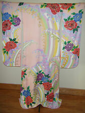 Magnificent Japanese Kakeshita Wedding Furisode Kimono w/ Yuzen & Gold Couching