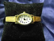 Woman's Milan Diamond Accent Watch with  Leather Band **Nice** B10-1128