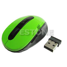 Green 2.4GHz High Quality Wireless Optical Mouse +USB 2.0 Receiver For PC Laptop