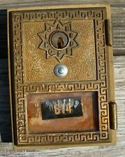"1958 NATIONAL Post Office P.O. Mail Box Door-SOLID BRASS Grecian-3 5/8"" X 5"""