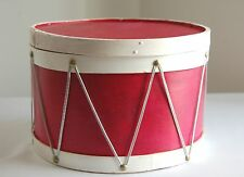 "Old Fashion ""Wood"" Drum Box Weathered Red & White Finish"