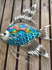 Colorful Fish - Metal Wall Art -Home Decor Outdoor Patio