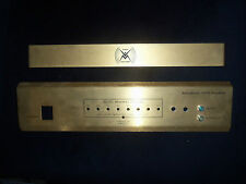 WOLCOTT AUDIO 220W Monoblock 18K Gold Face Plate and Tube Guard Logo- Unused New