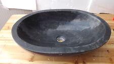 Lavandino in marmo nero Ovale DP407 60x40x16 stone lavabo sink river marble