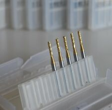 """New 10x1.5mm(0.06"""") Titanium Coated Carbide End Mill Engraving Bits for CNC/PCB"""
