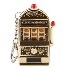 MINI SLOT MACHINE GAME LED FLASHING KEY CHAINS LUCKY CHARM KEYCHAIN JP-0808