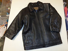GAP KIDS  BLACK   GENUINE LEATHER JACKET   SZ  XS   4      LNW   GORGEOUS!