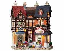 Lemax Village Collection Essex Corner Market Facade Great for O Scale Layouts!