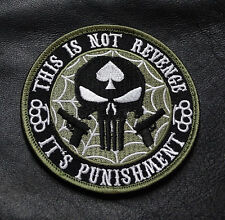 THIS IS NOT REVENGE PUNISHER INFIDEL BRASS KNUCKLE SPADE MORALE HOOK PATCH