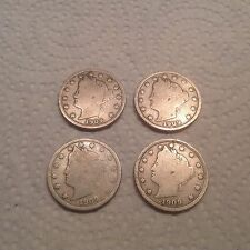 Set Of 4- 1909 Victory Nickels