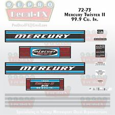 1972-73 Mercury Twister II 1500 150HP 99.9 Cu. In. Reproduction Decals 15 Piece