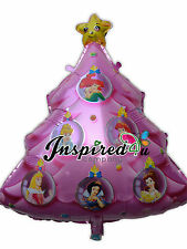 "Christmas Tree Disney Super Shape Helium Foil Balloon Party Star  30"" Princess"