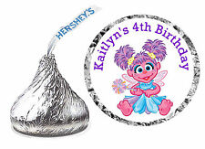 108 ABBY CADABBY BIRTHDAY PARTY FAVORS HERSHEY KISS LABELS