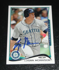 LOGAN MORRISON SIGNED AUTO'D 2014 TOPPS CARD #490 MIAMI MARLINS SEATTLE MARINERS