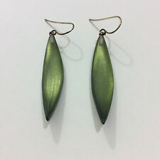 ALEXIS BITTAR PEA GREEN DANGLE EARRINGS