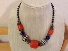 African-Arena Handmade Local Amber Black Beads Fashion Necklace AA-316