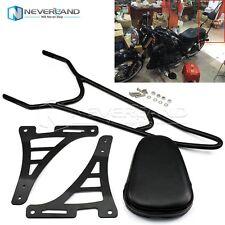 Black Sissy Bar Backrest Passenger Pad For 04-14 Harley Sportster 883 Custom