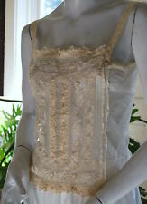 EDWARDIAN LACEY AND EMBROIDERED NET CAMISOLE ROMANTIC