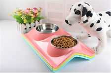 neue doppelt sichere stahl schoßhund katzenfutter wasser schüssel schüssel nicht