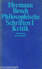 PHILOSOPHIQUE Polices 1 - CRITIQUE - Hermann BROCH tb (1977)