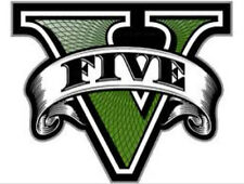 "Grand Theft Auto V - GTA 5 ""V"" logo sticker - Rockstar playstation wiiu xbox pc"