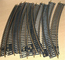 HO SCALE TRAINS MODEL POWER 10 BRASS CURVE TERMINAL TRAIN TRACK