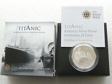 2012 royal mint titanic 100e Anniv £ 5 Cinq Pound Argent Proof Coin Box COA