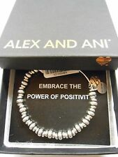Alex and Ani NILE BEADED Expandable Wire Bracelet Rafaelian Silver NWTBC