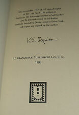 Signed Limited First edition of The Gold Coast by Kim Stanley Robinson 1988 Fine
