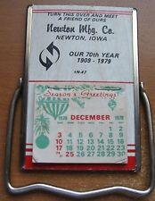 Vintage 1979 Chrome Calendar Mirror  Advertising Newton Mfg Co Iowa