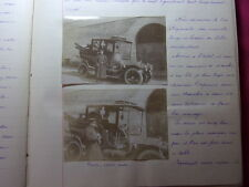 MANUSCRIT / JOURNAL DE VOYAGE EN ITALIE 1911 + PHOTOS