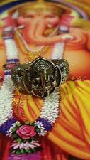Thai amulet ring Lord/ God Ganesh Lp Hong, Alpaka yantra with serial no. Size 11