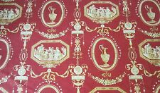 Neoclassical Scalamandre French Toile Romanesque Architectural,Fabric,Spain,BTY