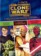 Star Wars The Clone Wars Volumes 3-Pack, Very Good DVD, Various, Various