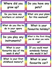 24 CONVERSATION STARTERS- COMMUNICATION ICE BREAKERS CLASS WORK SPECIAL NEEDS