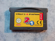 2 IN 1 V-RALLY 3 + STUNTMAN - NINTENDO GAME BOY ADVANCE GBA e DS NDS - LOOSE PAL