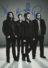 The Boxer Rebellion Band full signed 8x12 inch photo autographs