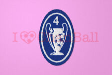 UEFA Champions League 4 Times Trophy (light blue) Sleeve Soccer Patch / Badge