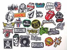 Lot of 30 Iron On Patch Sew Wholesale Music Band Metal Punk Rock n Roll DIY #BB