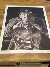 Stevie Ray Vaughan Poster By Bradford John Salamon!!! Fender Strat Guitar Player