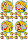 "MR TUMBLE PERSONALISED CAKE TOPPER ADD OWN PHOTO 7.5"" ROUND&TOPPERS ICING SHEET"