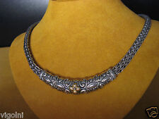BARBARA BIXBY NECKLACE CHAIN SS 18K SILVER BAR BLOWER CARVED DESIGNER GIFT