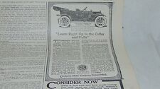 1912 CHALMERS MOTOR CO THIRTY-SIX TOURING CAR AND OTHER ADVERTISING