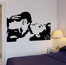 Wall Stickers Vinyl Decal Lovers Loving Couple Cool Decor Bedroom (ig671)