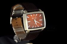 Men's Brown Leather strap Ben Sherman R824 R934 Brown Dial Rectangle Steel Gift