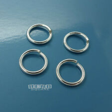 4PC Solid Sterling Silver 12mm 15 Gauge 1.5mm HD Open Jump Ring Connector #33106