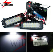 2 Bulbs LED License Plate Lights Xenon White Lamps For VW Golf / GTI MK4 MK5 MK6