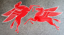 Mobil Pegasus Matching Pair - 2 pieces - Aluminum - Classic Logos - Garage Decor