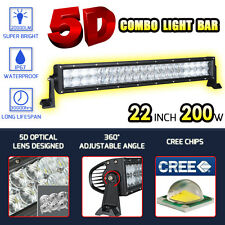 """5D CURVED 22INCH 200W CREE LED LIGHT BAR COMBO OFFROAD DRIVING LAMP CAR JEEP 24"""""""